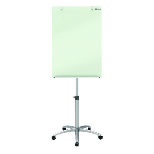 Nobo Glass Mobile Easel (Includes dry erase marker and aluminium pen tray) 1903949 - NB41971