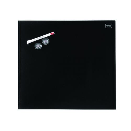 Nobo Diamond Glass Magnetic Whiteboard 300x300mm Black 1903950 - NB41973