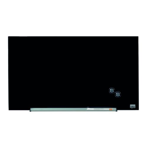 Nobo Glass Whiteboard Widescreen 31 Inch Black 1905179 - NB50199