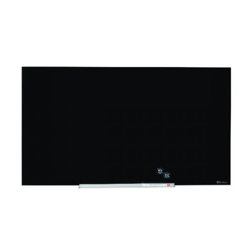Nobo Widescreen Glass Whiteboard 45 inch Black 1905180 - NB50200