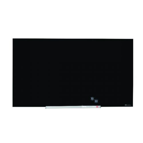 Nobo Widescreen Glass Whiteboard 57 inch Black 1905181 - NB50201
