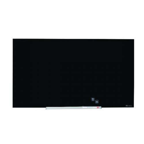 Nobo Widescreen Glass Whiteboard 85 inch Black 1905182 - NB50202