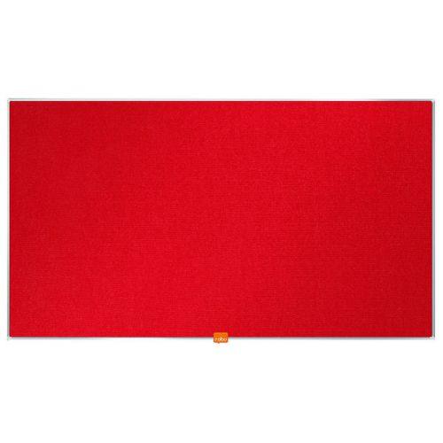 Nobo Widescreen 40inch Red Felt Noticeboard 890x500mm 1905311 - NB52296