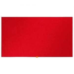 Nobo Widescreen 55inch Red Felt Noticeboard 1220x690mm 1905312 - NB52297
