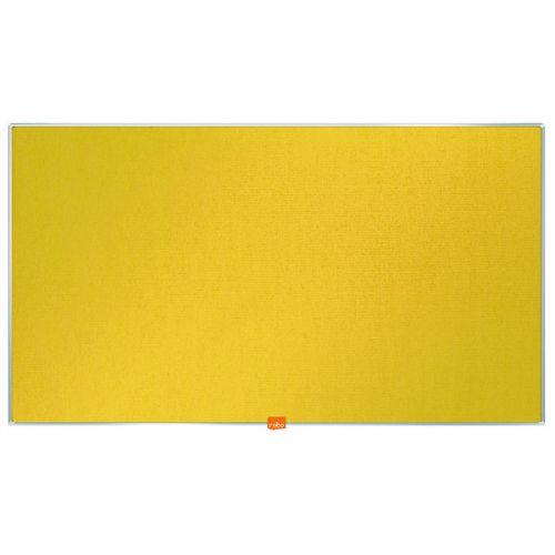 Nobo Widescreen 40inch Yellow Felt Noticeboard 890x500mm 1905319 - NB52304