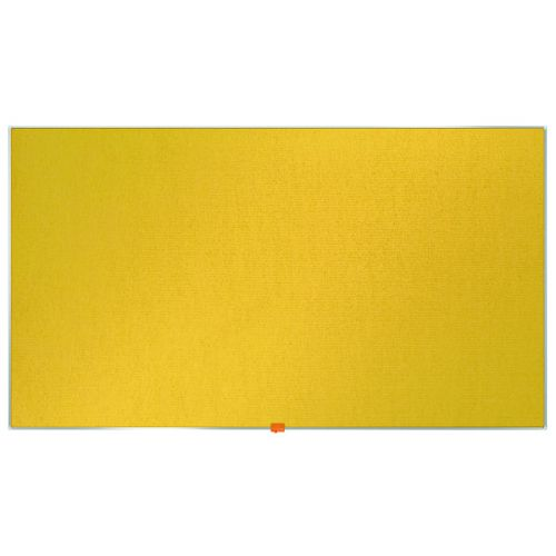 Nobo Widescreen 55inch Yellow Felt Noticeboard 1220x690mm 1905320 - NB52305