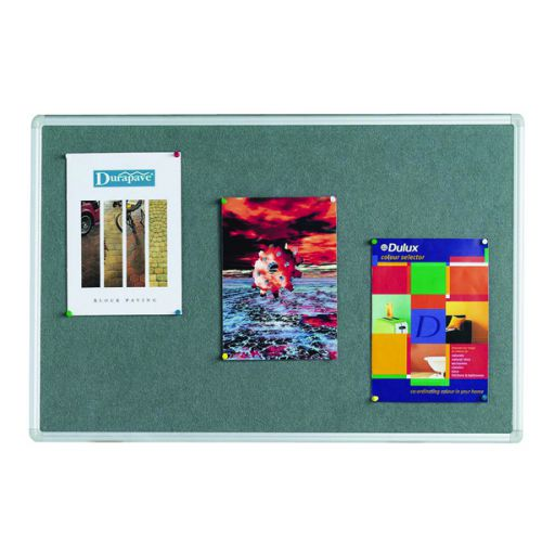 Q-Connect Aluminium Frame Felt Noticeboard 1800x1200mm Grey 9700027 - KF01075