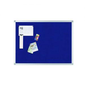 Q-Connect Aluminium Frame Felt Noticeboard 1200x900mm Blue 9700029 - KF01077