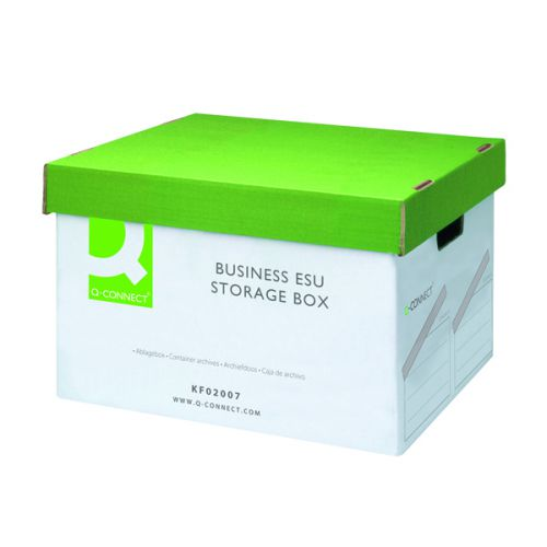 Q-Connect Business Easy Set Up Storage Box (Pack of 10) KF02007 - KF02007