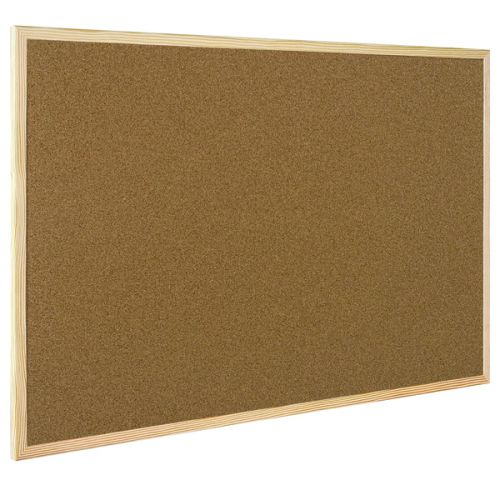 Q-Connect Lightweight Cork Noticeboard 900x1200mm KF03568 - KF03568