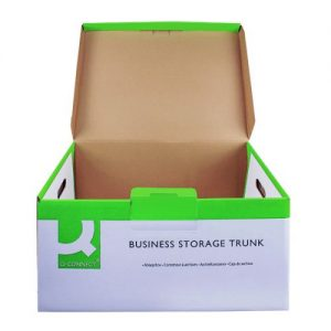 Q-Connect Business Storage Trunk Box W374xD540xH245mm White (Pack of 10) KF21663 - KF21663