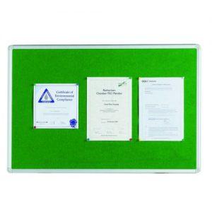 Q-Connect Aluminium Frame Felt Noticeboard 1800x1200mm Green 54034205 - KF26065