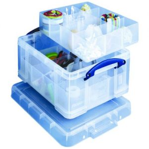 Really Useful Clear 21 Litre Plastic Divided Storage Box 21C+6T+12T - RUP63118