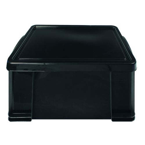 Really Useful 64L Recycled Plastic Storage Box Black 64Black R - RUP80004