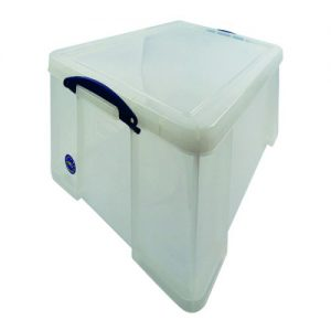 Really Useful 64L Plastic Storage Box W710xD440xH310mm Clear 64C - RUP80007