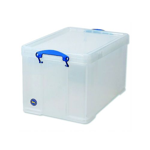 Really Useful 84L Plastic Storage Box W710xD440xH380mm Clear 84LC - RUP80080