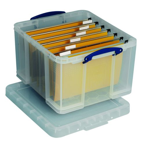 Really Useful 42L Plastic Storage Box W520xD440xH310mm Clear HBC - RUP80117