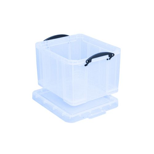 Really Useful 35L Plastic Storage Box With Lid W480xD390xH310mm Clear 35C - RUP80130