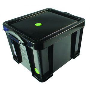Really Useful 35L Recycled Plastic Storage Box Black 35Black R - RUP80135