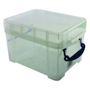 Really Useful 3L Plastic Storage Box With Lid 245x180x160mm Clear 3C - RUP80177