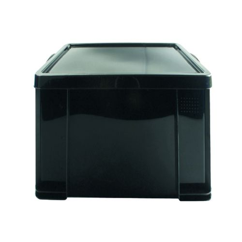Really Useful 84L Recycled Plastic Storage Box Black 84Black R - RUP80468