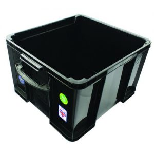 Really Useful 42L Recycled Plastic Storage Box Black 42Black R - RUP80666
