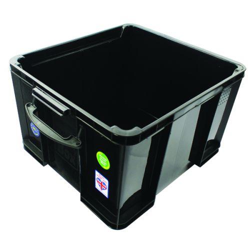 Really Useful 42L Recycled Plastic Storage Box Black 42Black R - RUP80666