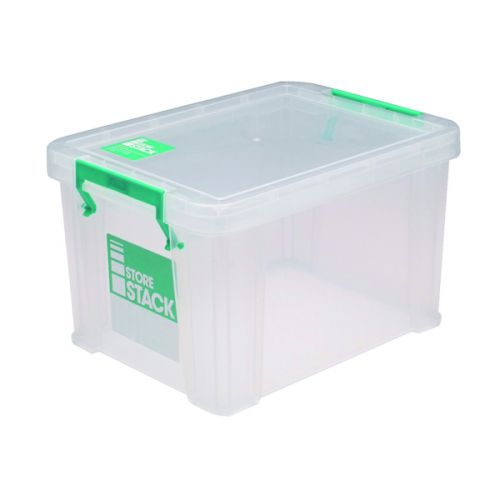 StoreStack 1 Litre Storage Box W180xD110xH90mm Clear RB00814 - RB00814