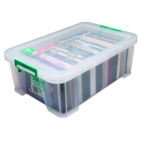 StoreStack 15 Litre Storage Box W300xD470xH170mm Clear RB11085 - RB11085