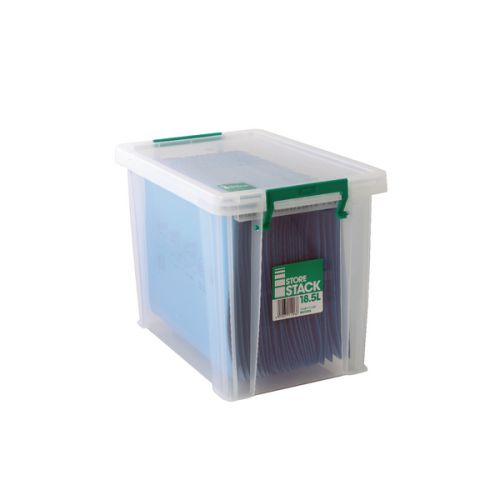 StoreStack 18.5 Litre Storage Box W400xD260xH290mm Clear RB11086 - RB11086
