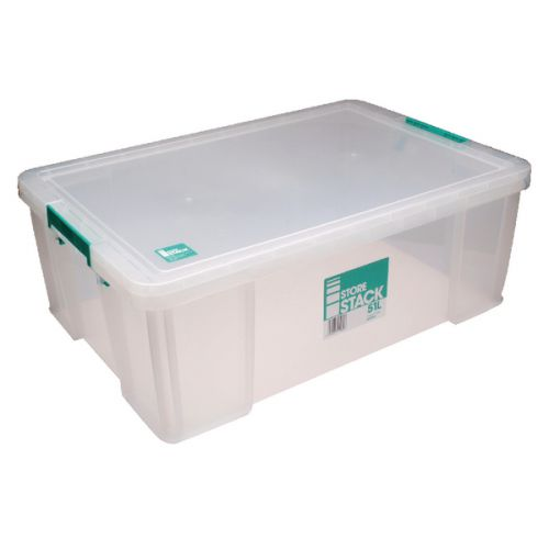 StoreStack 51 Litre Storage Box W660xD440xH230mm Clear RB11089 - RB11089