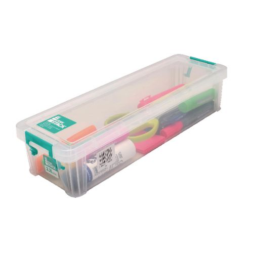 StoreStack 2.2 Litre Storage Box W370xD110xH80mm Clear RB75896 - RB75896