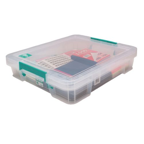 StoreStack 9 Litre Storage Box W430xD360xH90mm Clear RB75897 - RB75897