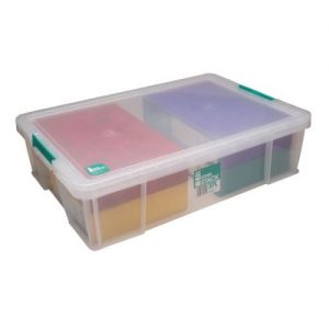 StoreStack 37 Litre Storage Box W680xD440xH170mm Clear RB75899 - RB75899