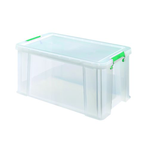 StoreStack 54 Litre Storage Box W640xD380xH310mm Clear RB77234 - RB77234