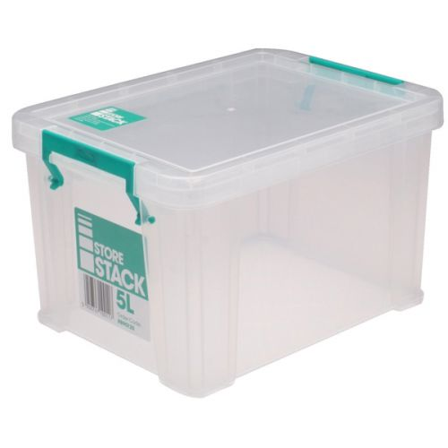 StoreStack 5 Litre Clear W260xD190xH150mm Storage Box RB90120 - RB90120