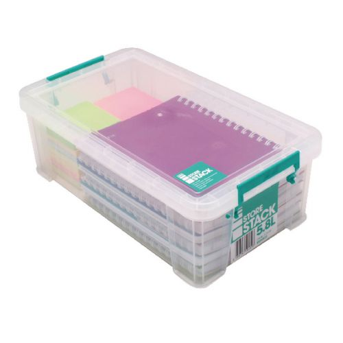 StoreStack 5.8 Litre Storage Box W350xD190xH120mm Clear RB90122 - RB90122