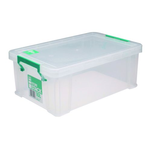 StoreStack 10 Litre Storage Box W400xD255xH150mm Clear RB90123 - RB90123