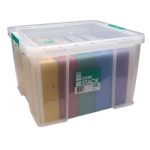StoreStack 48 Litre Storage Box W490xD440xH320mm Clear RB90125 - RB90125