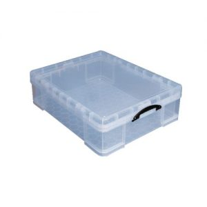 Really Useful 70L Plastic Storage Box W810xD620xH275mm Clear 70C - RUP63474