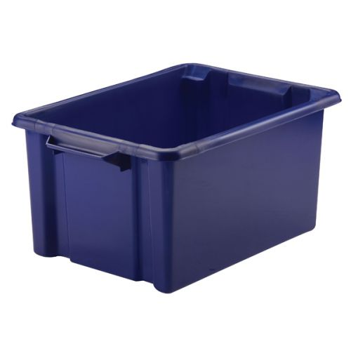 Strata Storemaster Maxi Crate 32L Blue (Stackable and easy to clean) HW046-Blue - AQ00156