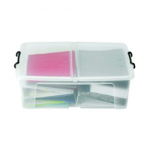 Strata 50L Smart Box with Lid Clear HW675 - AQ03951