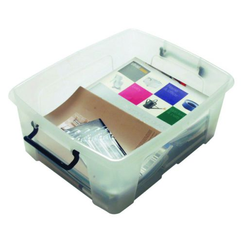 Strata Smart Box 24 Litre Clear (395 x 500 x 190mm) HW673 - AQ03952