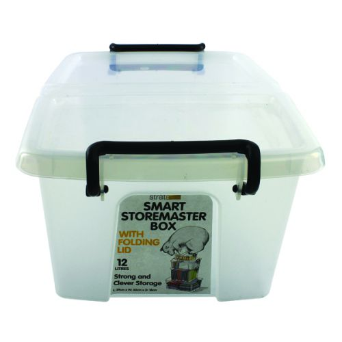 Strata Smart Box 12 Litre Clear (295 x 400 x 70mm) HW671 - AQ03953