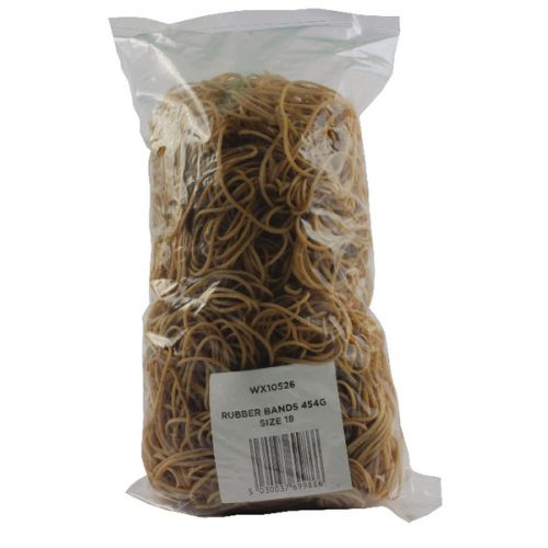 Size 18 Rubber Bands (Pack of 454g) 9340015 - WX10526