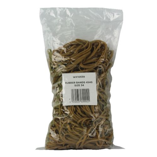 Size 34 Rubber Bands (Pack of 454g) 3105063 - WX10539