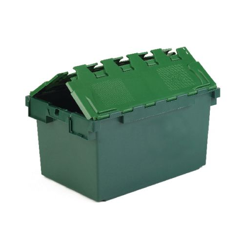 VFM Green 25 Litre Plastic Container With Lid 306579 - SBY04601