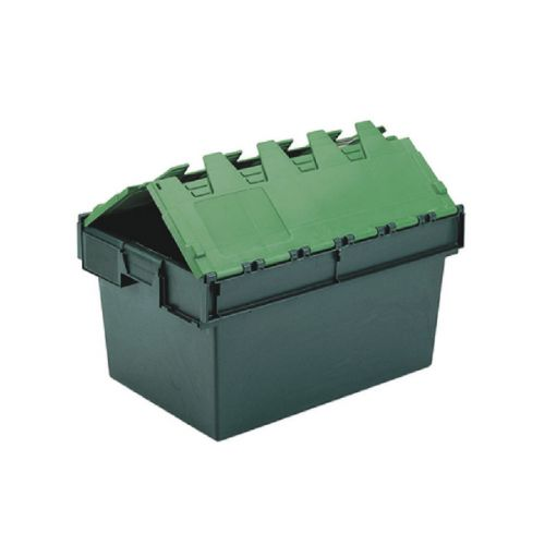 VFM Green 64 Litre Plastic Container With Lid 306598 - SBY04607