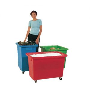 625X570X570mm Green Mobile Nesting Container 328233 - SBY12940