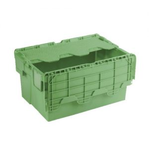 Attached Lid Container 54L Green 360330 - SBY17593